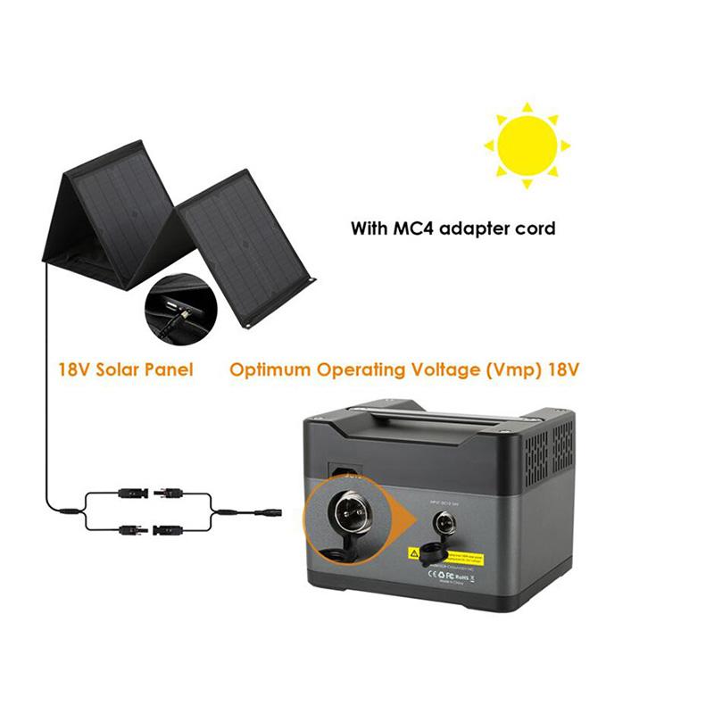 300W Portable Solar Power Generator