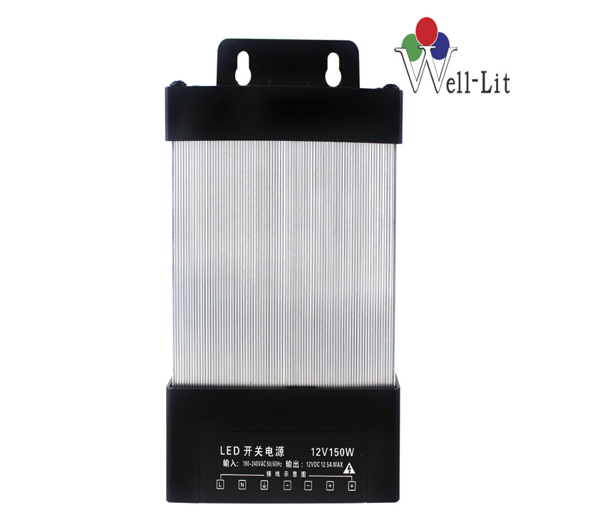 12V 0-12.5A 150W Constant Voltage Rainproof LED Power Supply