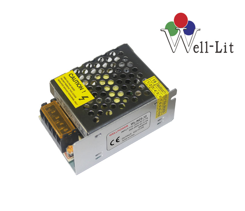 12V 0-2A 25W Constant Voltage LED Switching Power Supply