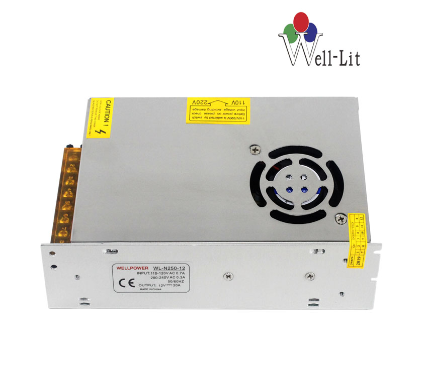 DC Fan 12V 0-20A 250W Constant Voltage LED Switching Power Supply