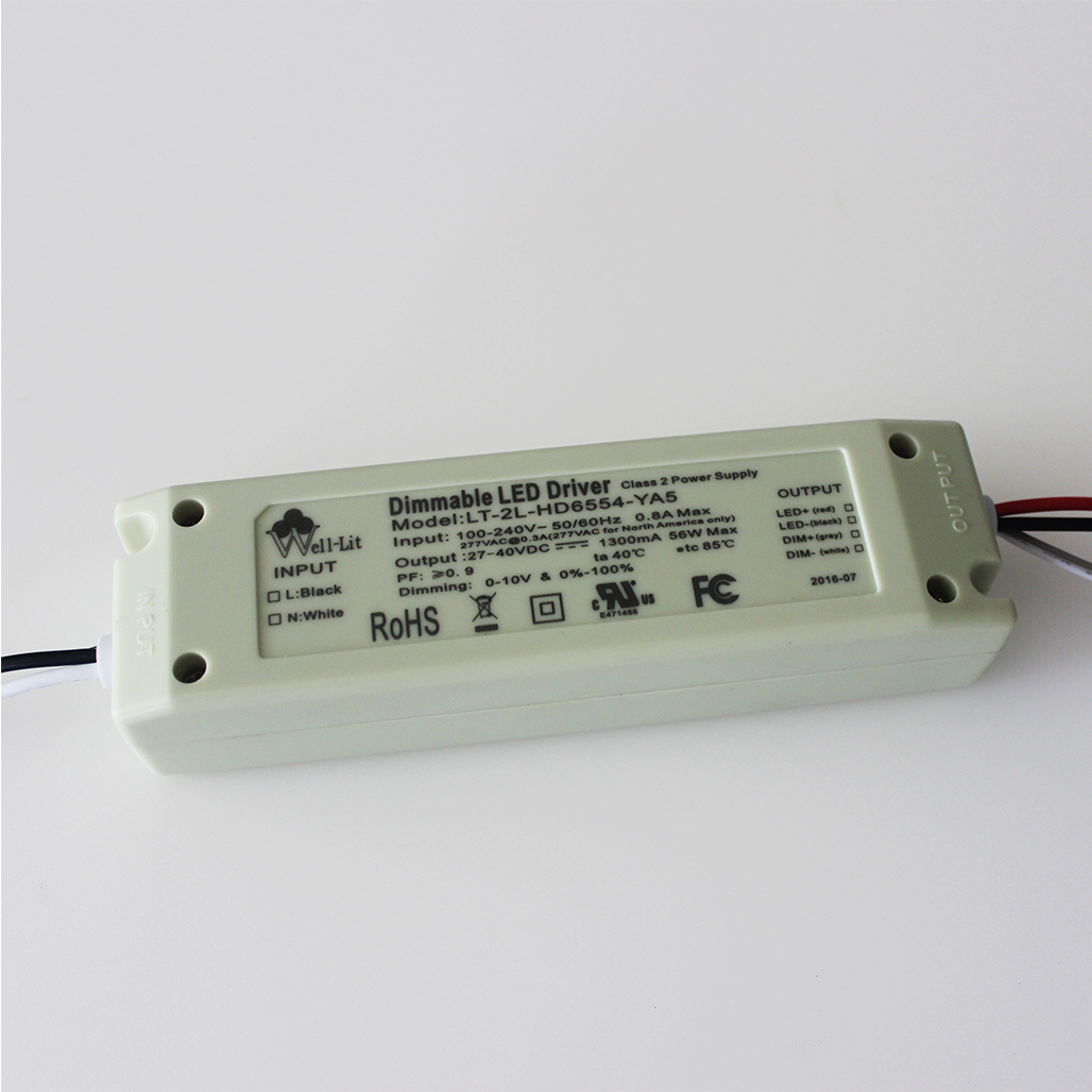 30-60W 0~10V Dimmable and Non-flicker LED Driver with UL certificate