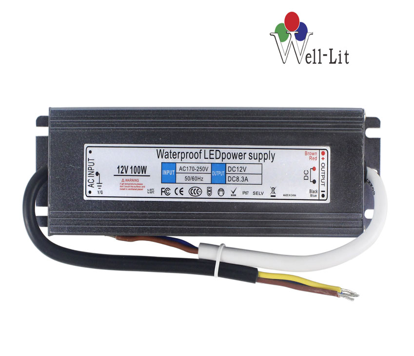 12V 0-10A 120W Slim Constant Voltage Waterproof LED Power Supply