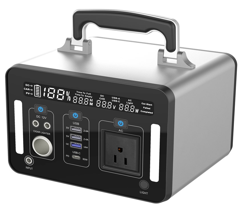 500W、1000W Portable Power Station、100-240V Power Generator